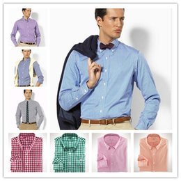 Wholesale Hottest Mens Dress Shirts - HOT New Fashion Small Horse Oxford Men Shirts Long Sleeve Men's Dress Shirts High Quality Mens Business Shirts polo Chemise Homme
