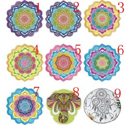 Wholesale Sleep Mats Wholesale - sea Beach mat Indian Bohemian Mandalas Tapestry Totem Lotus Wall Hanging Sandy Beach Towels Yoga Mat Blanket Camping Mattress Sleeping Pad