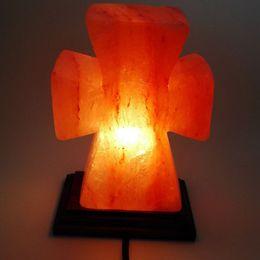 Best Home Decor Novelty Items Wood Cross Shape Himalayan Salt Lamp Home And Garden Home