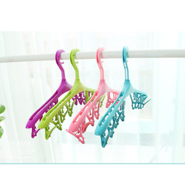 Wholesale Children Tie Skirts - Children clothes hanger baby clothes hanging adult clothes racks baby sun socks clothing support multi-fun hangers and racks