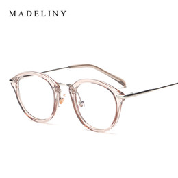 Wholesale Vintage Cat Picture - Wholesale- Classic Fashion Women Picture frame Brand Designer Vintage Round Eyeglasses Frame Cat Eye Style Clear Lens Glasses MA199