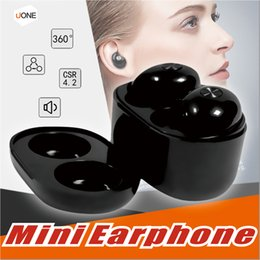 Wholesale lg 3d phone - For All Smart Phone TWS IP010 Bluetooth Wireless Earphone Portable Mini Earbuds In-ear Headsets 3D Stereo Headphones With Retail Package