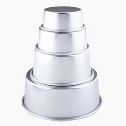 "Wholesale aluminum cake tins - Wholesale- 5"" Aluminum Alloy Round Cake Baking Mould Pan Tin Mold Tray Bakeware Tool"