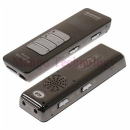 Wholesale Mobile Digital Recorder - Wholesale-Mp3 Player 8GB Wireless Bluetooth Voice & Call Recorder for Mobile Cellphone USB Digital Voice Recorder