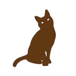 Autocollant mural chat noir en Ligne-Bricolage Décalques de Vinyle Autocollants de Voiture Autocollants de Fenêtre Scratches Autocollants Mur Découpés Accessoires de pare-chocs Animal Jdm Chat Pet Kitten