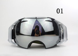 Wholesale Double Shield - Fashion AIRBRAKES ski goggles Mountaineering goggles Super toughness Double spherical surface anti-fog goggles 9 Colors Unisex Sunglasses