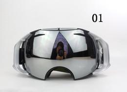Альпинистские очки онлайн-Мода AIRBRAKES лыжные очки альпинизм очки супер прочность двойной сферической поверхности противотуманные очки 9 цветов унисекс солнцезащитные очки