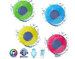 Wholesale Cute Usb Speakers - Waterproof speakers Wireless Bluetooth Speaker Mini Portable Sucker Speaker with cute style for mobile phone PC Tablet