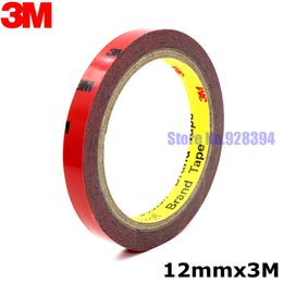 Wholesale Foam Tape Single Sided - Wholesale- 2016 12mm x 3Meter 3M Tape Automotive Auto Truck Car Acrylic Foam Double Sided Attachment Strong Adhesive Tape Free Shipping