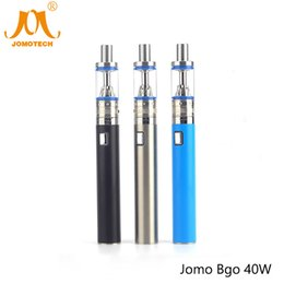 Wholesale E Cig Vaporizer Kits Cheap - JOMOTECH Bgo 40W E-cig Vape Mod 2200mAh Battery Electronic Cigarette Vaporizer Kits 40W Cheap E-cigarette with 4ml Atomizer Jomo-09