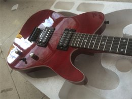 Wholesale Seymour Duncan Guitar - Electric guitar new guitarra fen tl Burgundy color electric guitar with seymour Duncan pickups  maple flame top guitar in china