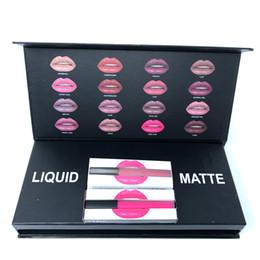 Wholesale colorful beauty - New Beauty Liquid 16colors Lipgloss Makeup kit Lipsticks 16color Waterproof Long Lasting colorful set free shipping 1SET