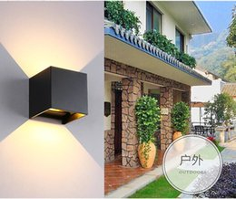 luci registrabili regolabili regolabili Sconti 1pcs 8W 10W Dimmable COB IP65 cubo regolabile a montaggio superficiale LED esterno lightig, LED applique da parete per interni, lampade a LED a parete