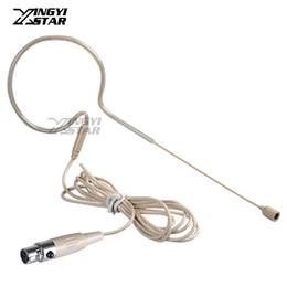 Auriculares uhf online-Mini XLR 4 Pin TA4F Micrófono con Micrófono Microfone Micrófono con Micrófono Micrófono Micrófono de Condensador para Sistema Inalámbrico de UHF Transmisor BodyPack