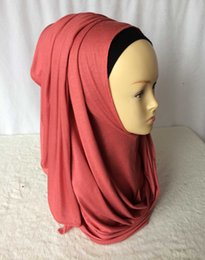 Wholesale Amira Scarf - Wholesale-Jersey instant shawl hijab slip on shawls plain amira hijabs cotton jersey scarf,can choose colors,free shipping 5140