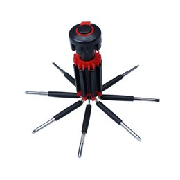 Wholesale Auto Screwdriver - 8 In 1 Multifunction LED Flashlight Screwdriver Car Auto Emergency Safety Maintenance Tool Repair Kit Box