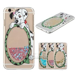Wholesale Covered Dog - Carton Dog Quicksand Star Case For Iphone 6 Cases Bling Bling Case Hard PC Ultra-thin Transparent Back Cover Case For Iphone 6S Plus 50PCS