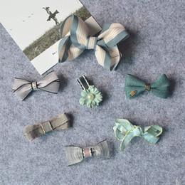 Wholesale Hair Clip Ribbon Design - Newly Design Cute bow kids Hair Clips Princess Baby Hairpins Children Headwear Girls Hair Accessories gift