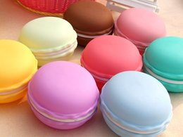 Wholesale Earphones Boxes - Jewelry Storage Box 10cm Earphone SD Card Macarons Bag Storage Box Case Carrying Pouch