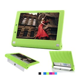 Wholesale lenovo yoga tablet cover - Wholesale-For Lenovo Yoga Tablet 2 850f Silicon Case For Lenovo Yoga Tab 2 1050f Case Sweety Soft Back Cover Shell Pouch