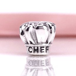 Wholesale Pandora Hat - Chefs Hat Silver Charm Fit For Pandora 925 Sterling Silver Snake Chain Bracelet And Necklace Wholesale DIY Fashion Jewelry 791500