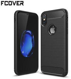 Wholesale Carbon Fiber Iphone Skin - Carbon Fiber For apple iphone 8 iphone 5 5s 6 6s plus 7 8 Plus Case Soft Gel Slim Hybrid Armor TPU Skin Back Silicon Cover
