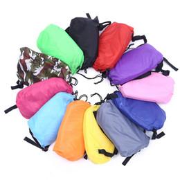 Wholesale Green Pink Cot Bedding - Fast Inflatable hangout Air Sleep Camping Bed Beach Sofa Lounge Banana Sleeping bags banana lazy bag
