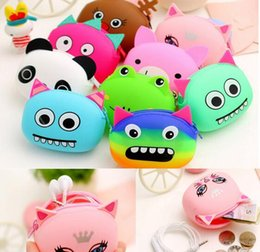 Wholesale Cute Girl Headphones - 3D Cartoon Animal Candy Colored Girls Coin Bags Women Key Wallets Children Cute Cartoon Mini Coin Purse for Earphone Headphone G181