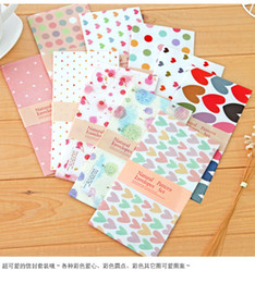 Wholesale Envelopes For Wedding Invitations - Wholesale- 10pcs lot lovely natural parttern heart point envelopes For Card Scrapbooking Gift for Wedding Letter Invitations papelaria