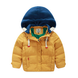 Wholesale Top Selling Kids Clothes - 2016 Direct Selling Top Regular Winter Coat Children Boys Down Jacket for Winter Clothes Leisure Hooded Kids Warm Coats