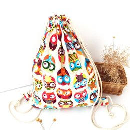 Wholesale Womens Backpack Fashion Bags Canvas - Wholesale- Best Gift Hcandice New Womens Owl Canvas Summer Backpack Fashion Package Duable Bags drop ship bea676 Drop Shipping Wholesale