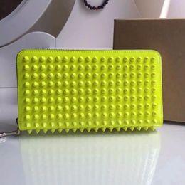 Wholesale Cartoon Heart Pillow - rivets Long Wallet Card Money Holder Clutch Purse Designer Wallets Phone Pocket men women red heart passport card credit purses wallet bag