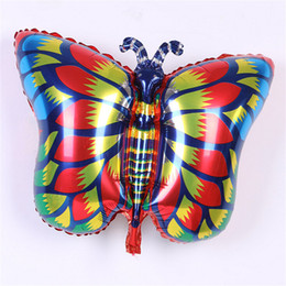 Wholesale Wholesale Butterfly Balloons - big inflatable air balloon animal foil balloons butterfly happy birthday party decoration ballons kids toys globos helio dropshipping