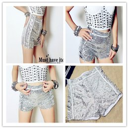 Wholesale Fly Jazz - 2017Star sequins high waist shorts with money Bar dance costumes jazz dance street dance stage