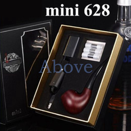 Wholesale Ego E Cigarette Kit Cartridge - In stock Mini E-Pipe 628 Electronic Cigarette kit 510 EGo Thread Wooden Color Mini Pipe 628 Epipe with Three Cartridge