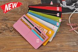 Wholesale Vertical Wallet Id - Universal Wallet Leather Pouch Sleeve Purse Bag Colorful Card Slot Holder Photo Money Zipper Vertical Flip ID Cards Wallet Bag Fashion 50pcs