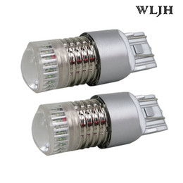 Wholesale Auto Bulbs 7443 - WLJH 40W 7443 W21W T20 LED 1000lm Auto Car External Switchback White Amber Turn Signal Light DRL Parking Led Bulb Lens