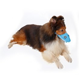 Wholesale Large Plastic Masks - Dog Muzzles-Dog Adjustable Mask Anti Bark Bite Mesh Soft Mouth Muzzle Grooming Chew Stop For Small Large Dog Size S-XL