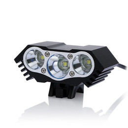 Wholesale Cycling Leds Light - Waterproof 7500 Lumen 3 x CREE T6 LEDs USB Port 4 Modes Bicycle Bike Light Headlight Cycling Torch Front Head Lamp