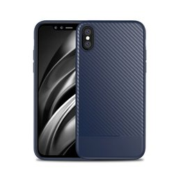 Wholesale Iphone Carbon Fiber Bumper - Carbon Fiber Pattern Lines Soft TPU Case For iPhone X Armor Bumper Shockproof Defender Back Cover