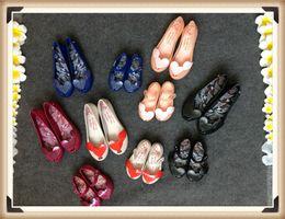 Wholesale Glitter Shoe Children - 2017 Newest mom and daughter Mini Melissa Girls Sandals Flash Glitter Love Wings Jelly Soft-Soled Sandals Children Girl Vegan Shoes Melissa