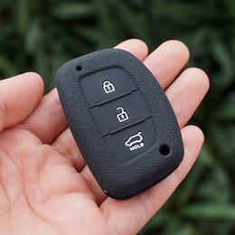 Wholesale Hyundai Remote Car Key Shell - silicone car key fob cover case skin set shell for Hyundai i30 ix35 HB20 solaris tucson accent santa fe smart remote keyless