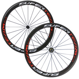 Wholesale Carbon Fiber Rims Bicycle - Superteam 50mm Carbon Wheelset Bicycle Rims Carbon Fiber Bike Road Wheel 3K Glossy Clincher Free Shipping