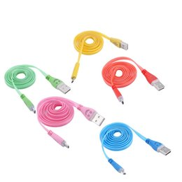 Wholesale Smile Face Cable - Lighting USB Cables 1M Micro USB Date Cable for Samusng HTC Mobile Phone LED Luminous Smile Face charger cable