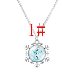 Wholesale Girls Clothes Necklace - new arrive 10 styles mixed Frozen Necklaces Colorful Necklace Cartoon Pendants Baby Clothes Girls Dress Accessories Children's Jewelry
