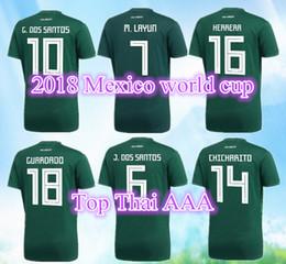 cb846de2a New 2018 World Cup Mexico soccer jerseys CHICHARITO R MARQUEZ G DOS SANTOS  O PERALTA HERRERA footbalL shirt top thailand camisetas de futbol