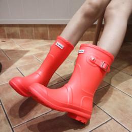 Wholesale Shoe Pvc Boot Rain - Rubber Buckles Shoes Women Rain Boots For Girls Ladies Walking Waterproof Women Boots Winter Summer Spring Ankle Martins Woman Rainboots