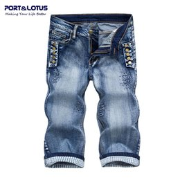 Wholesale Fly Port - Wholesale-Port&Lotus Fashion Casual Jeans New Arrival With Zipper Fly Solid Color Midweight Straight Pants Slim Fit Men Jeans037 wholesale