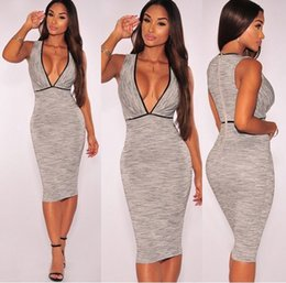 Wholesale Sexy Collared Vest - The New Europe popular days low price cheap but high quality sexy slim vest V collar dress free shipping