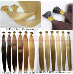 "Wholesale Human Sticks - ZZHAIR 16""-24"" Stick I-Tip Remy Hair 100% Brazilian Human Hair Extensions 100s pack Capsule Keratin Hair 100g"